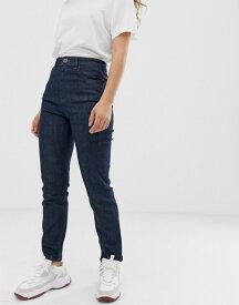エイソス レディース デニムパンツ ボトムス ASOS DESIGN Farleigh high waist slim mom jeans in washed indigo Indigo