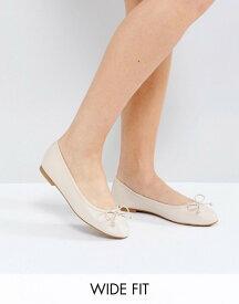 エイソス レディース パンプス シューズ ASOS LIBRA Wide Fit Ballet Flats Pale beige