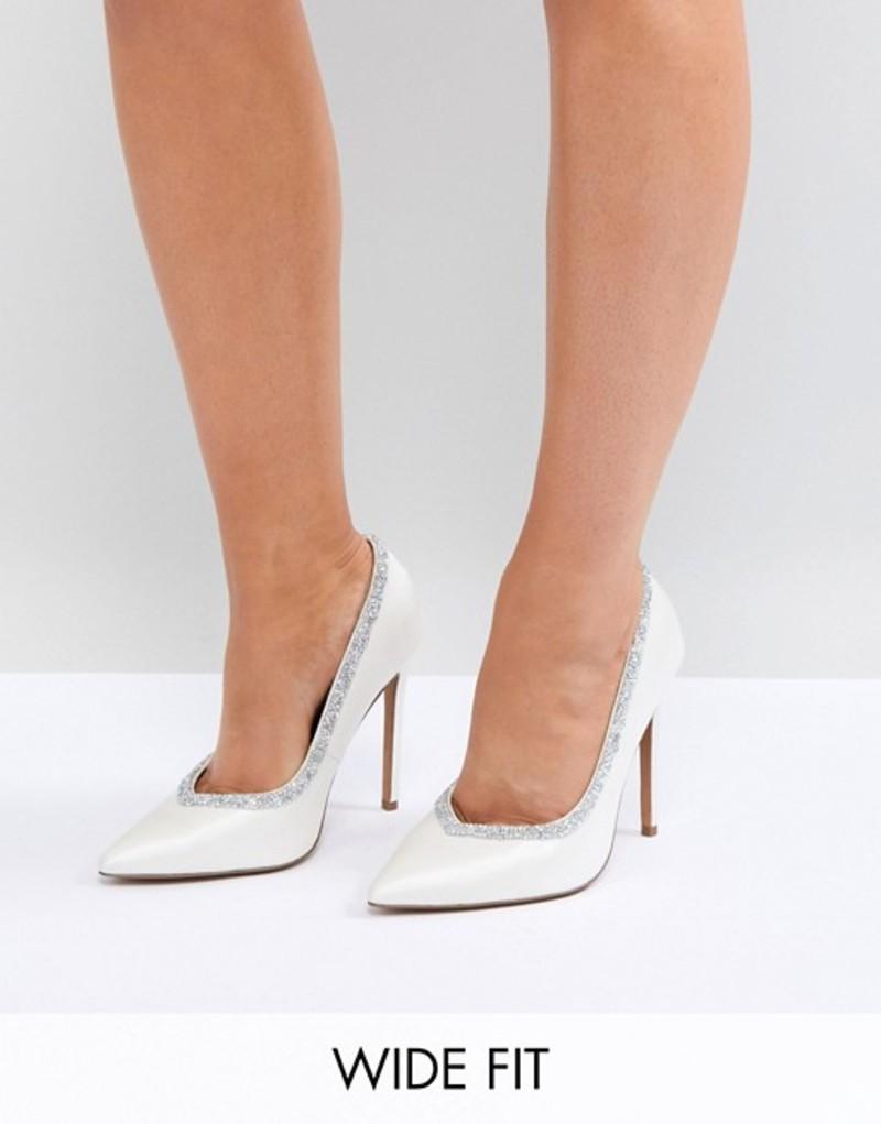 エイソス レディース ヒール シューズ ASOS DESIGN Wide Fit Phoenix bridal high heeled pumps in ivory Ivory