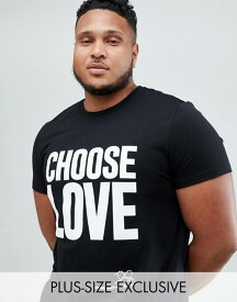68ae15a19 ヘルプレフュジー メンズ Tシャツ トップス Help Refugees Choose Love Plus t-shirt in black
