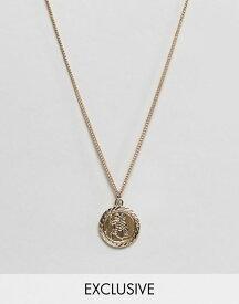リクレイム ヴィンテージ メンズ ネックレス・チョーカー アクセサリー Reclaimed Vintage inspired St Christopher necklace in gold exclusive at ASOS Gold