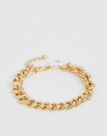 f036ef813f5d エイソス メンズ ブレスレット・バングル・アンクレット アクセサリー ASOS DESIGN mixed chain bracelet in gold  tone