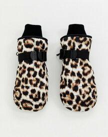 エイソス レディース 手袋 アクセサリー ASOS 4505 ski leopard print mitten gloves Mutli