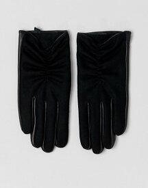 エイソス レディース 手袋 アクセサリー ASOS DESIGN wool and leather mix glove Black