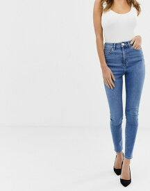 エイソス レディース デニムパンツ ボトムス ASOS DESIGN Ridley high waist skinny jeans in bright french blue Blue