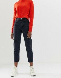 エイソス レディース デニムパンツ ボトムス ASOS DESIGN Recycled Florence authentic straight leg jeans in washed black Washed black
