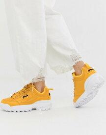 フィラ レディース スニーカー シューズ Fila Yellow Disruptor II Premium Sneakers Gold