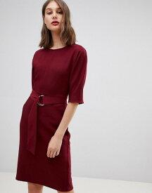 ウエアハウス レディース ワンピース トップス Warehouse d-ring midi dress in burgundy Burgundy