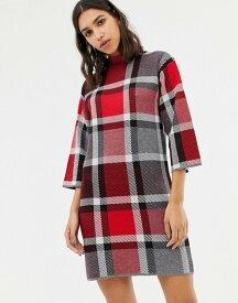 ウエアハウス レディース ワンピース トップス Warehouse sweater dress in red check Red