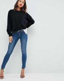 エイソス レディース デニムパンツ ボトムス ASOS Whitby Low Rise Skinny Jeans in Andie Dark Stone Wash Dark stone wash