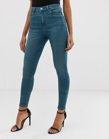 エイソス レディース デニムパンツ ボトムス ASOS DESIGN Ridley high waist skinny jeans in london blue wash Blue