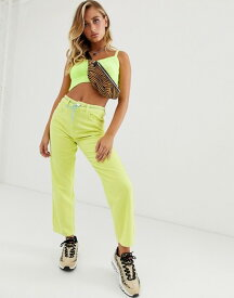 エイソス レディース デニムパンツ ボトムス ASOS DESIGN Florence authentic straight leg jeans in neon yellow cord Neon yellow