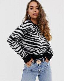エイソス レディース ニット・セーター アウター ASOS DESIGN brushed zebra sweater Multi