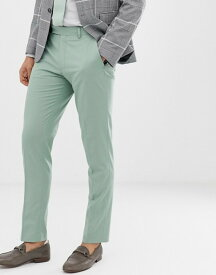 エイソス メンズ カジュアルパンツ ボトムス ASOS DESIGN wedding skinny smart pants in mint green Green