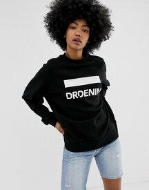 ドクターデニム レディース パーカー・スウェット アウター Dr Denim Luna logo sweatshirt Black logo