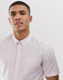 フレンチコネクション メンズ シャツ トップス French Connection short sleeve linen shirt Soft pink