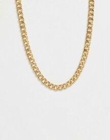 エイソス メンズ ネックレス・チョーカー アクセサリー ASOS DESIGN short chunky chain in gold tone Gold