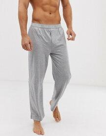 フレンチコネクション メンズ カジュアルパンツ ボトムス French Connection FCUK logo waistband cotton lounge pants Light grey marl