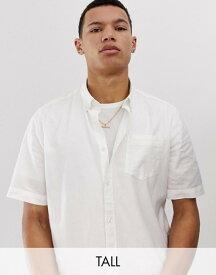 フレンチコネクション メンズ シャツ トップス French Connection Tall short sleeve linen shirt White