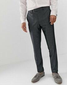 フレンチコネクション メンズ カジュアルパンツ ボトムス French Connection prince of wales check slim fit suit pants Grey