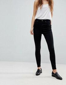 エイソス レディース デニムパンツ ボトムス ASOS RIDLEY High Waist Skinny Jeans in Clean Black Black