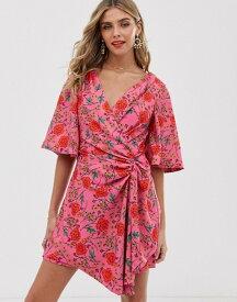ファインダーズ キーパーズ レディース ワンピース トップス Finders Keepers Hana floral print wrap mini dress Fuschia floral
