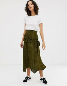 エイソス レディース スカート ボトムス ASOS DESIGN gingham check wrap midi skirt Gingham check
