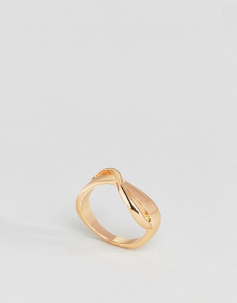 エイソス レディース 指輪 アクセサリー ASOS Sleek Wave Twist Ring Gold