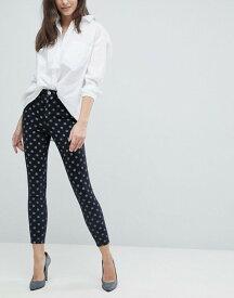 エイソス レディース デニムパンツ ボトムス ASOS RIDLEY High Waist Skinny Jeans In Polka Dot Print Black polka dot