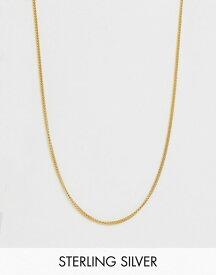 エイソス メンズ ネックレス・チョーカー アクセサリー ASOS DESIGN short sterling silver necklace in 14k gold plate Gold