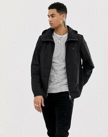 オールセインツ メンズ ジャケット・ブルゾン アウター AllSaints lightweight hooded jacket in black Black