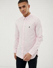フレンチコネクション メンズ シャツ トップス French Connection long sleeve oxford shirt Soft pink