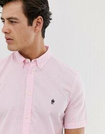 フレンチコネクション メンズ シャツ トップス French Connection short sleeve oxford shirt Pink