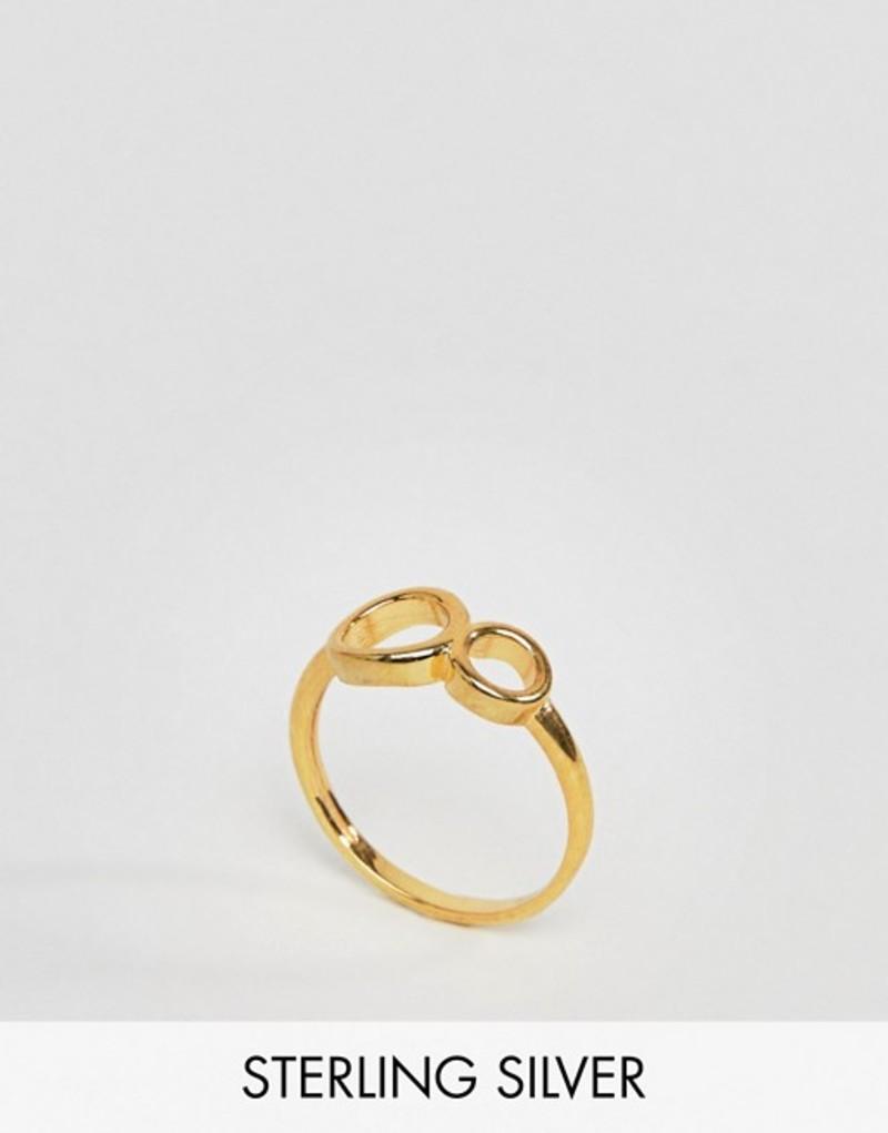 エイソス レディース 指輪 アクセサリー ASOS Gold Plated Sterling Silver Double Circle Ring Gold