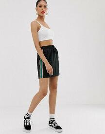 バンズ レディース スカート ボトムス Vans Cali Native Track Skirt Black