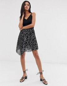 オールセインツ レディース スカート ボトムス AllSaints lea scatter pleated mini skirt Black