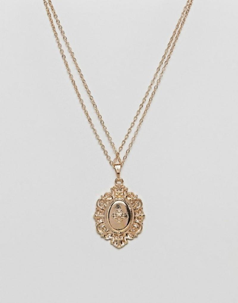 エイソス レディース ネックレス・チョーカー アクセサリー ASOS Vintage Style Lucky Locket Necklace Gold