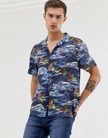 フレンチコネクション メンズ シャツ トップス French Connection surf print shirt Surf blue