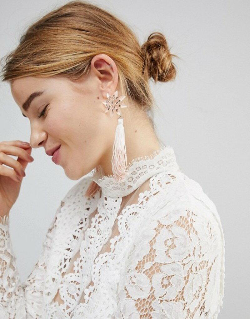 エイソス レディース ピアス・イヤリング アクセサリー ASOS Pretty Flower and Ombre Tassel Earrings Multi
