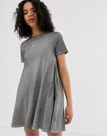 チープマンデー レディース ワンピース トップス Cheap Monday organic cotton a-line t-shirt dress Off black
