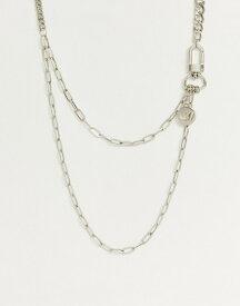 エイソス メンズ ネックレス・チョーカー アクセサリー ASOS DESIGN unrivalled supply neck chain Silver