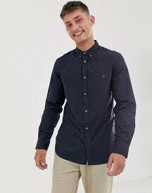フレンチコネクション メンズ シャツ トップス French Connection oxford button down logo shirt Navy