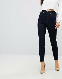エイソス レディース デニムパンツ ボトムス ASOS Super High Rise Firm Skinny Jeans in Raw Indigo Wash Indigo