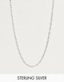 エイソス メンズ ネックレス・チョーカー アクセサリー ASOS DESIGN sterling silver open link chain Silver