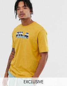 フィラ メンズ Tシャツ トップス Fila Acer logo t-shirt in beige exclusive at ASOS Tinsel
