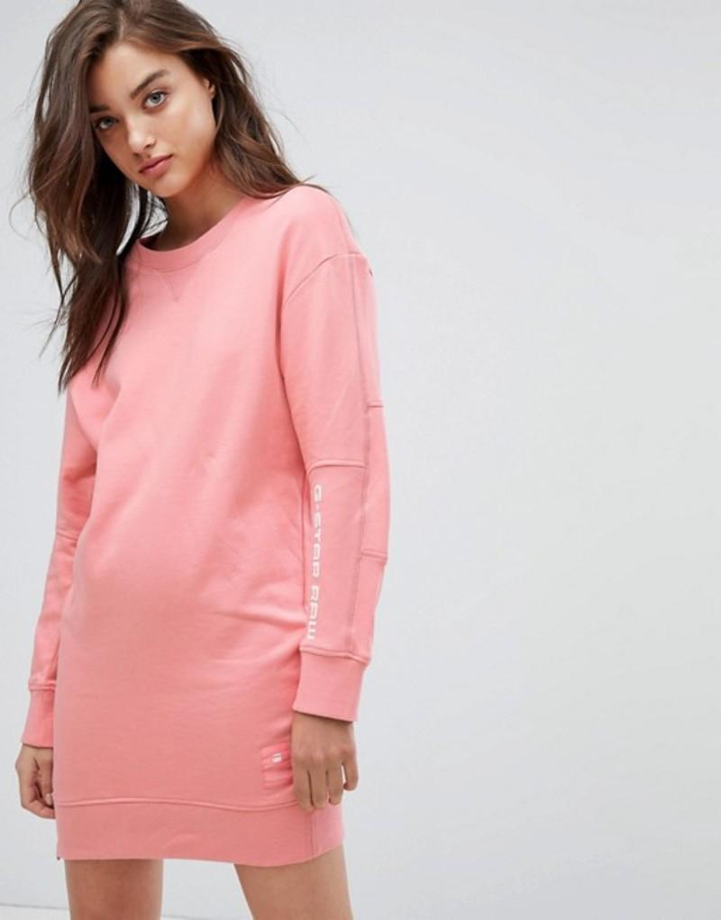 ジースター レディース ワンピース トップス G-star Sweat Dress with Arm Logo Detail Cactus pink