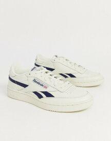 リーボック メンズ スニーカー シューズ Reebok revenge plus sneakers in off white with navy stripe Be1 - beige 1
