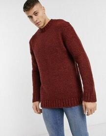 リバーアイランド メンズ ニット・セーター アウター River Island boucle sweater in rust Rust