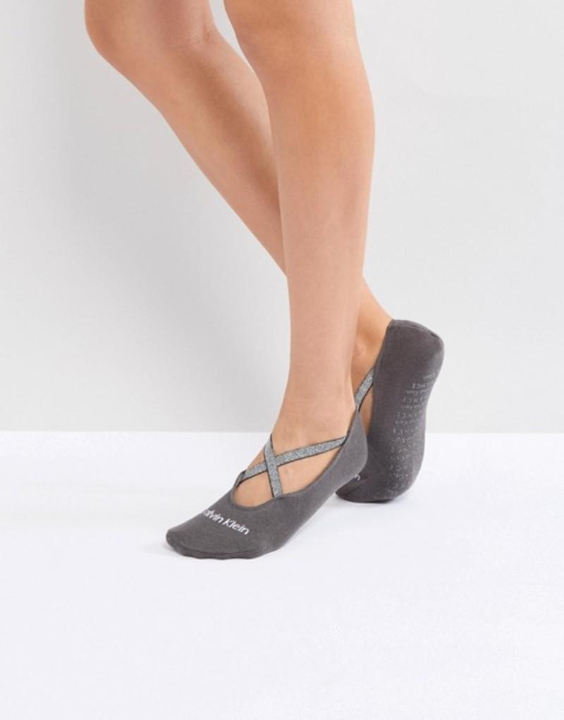 カルバンクライン レディース 靴下 アンダーウェア Calvin Klein Sparkle Ballet Liner Sock Grey