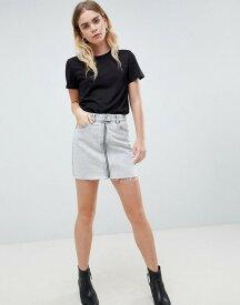 ドクターデニム レディース スカート ボトムス Dr Denim Mini Skirt with Exposed Zip Dirty white